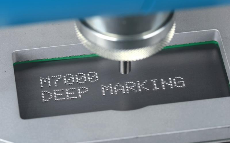 Pro Pen M7000 mobile Stylus indent marking system makes high quality, deep marks on metal.