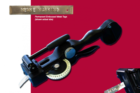 Menke Marking offers metal embossed tags that are durable and weather resistant.