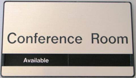 Custom conference room door sign.