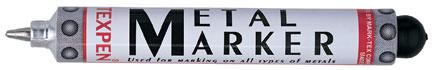 Texpen Metal Markers from Menke Marking in Los Angeles, California are the best choice for outdoor marking.